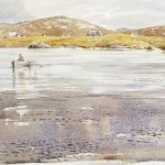 William Neill Wildlife and Landscape Artist - South Uist - Outer Hebrides - Fishing for Sea Trout