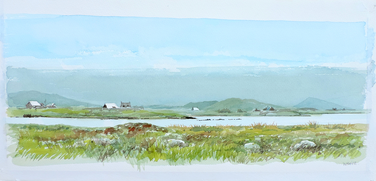 William Neill Wildlife and Landscape Artist - South Uist - Outer Hebrides - From Bayhead